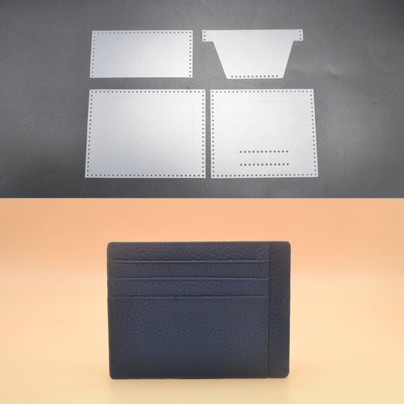 DIY pvc Stencil Template FOR making small card holder Leather craft