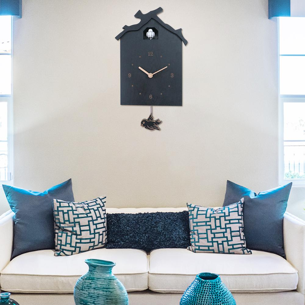 Cuckoo House Wall Clock Swinging Pendulum Wallclock Watch For Living Room Dining Room Kids Bedroom Decoration Cuckoo Clock