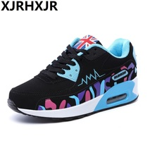 New Women Fashion Casual Breathable Mesh Shoes Fitness Lady Swing Lace Up Platform Slimming Height increasing