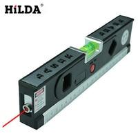 New 4 In 1 Blister Laser Levels Horizon Vertical Magnetic Measuring Tape Aligner Laser Marking Lines