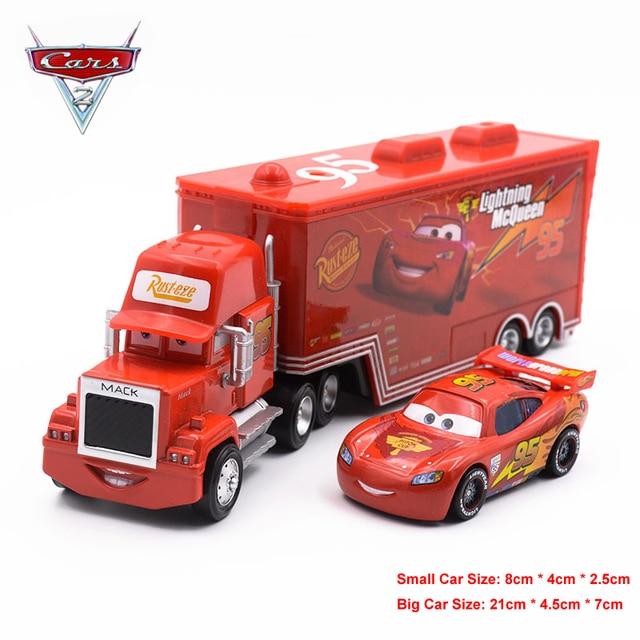 disney pixar cars lightning mcqueen mack truck mater diecast metal