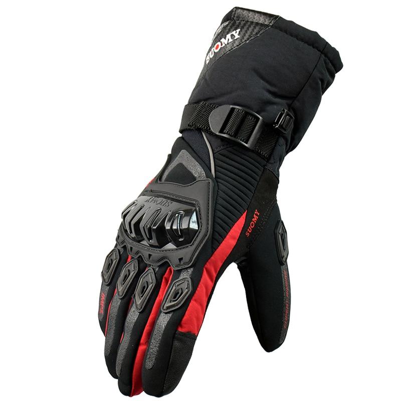 SUOMY Winter warm motorcycle gloves 100% Waterproof windproof motocross moto Guantes Moto Luvas Touch Screen Motosiklet Eldiveni