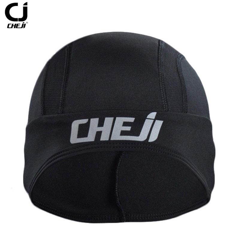 CHE JI Fleece Headband Men Winter Warm Cycling Caps Outdoor Sports MTB Bike Scarf Bicycle Riding Hats Black Bandana Ciclismo