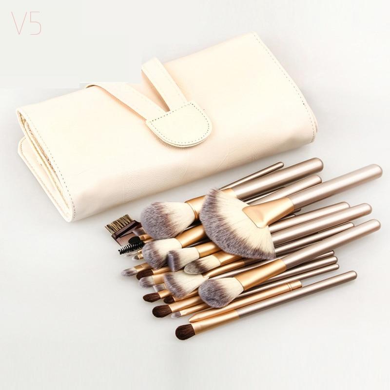 12/18/24 Pcs Professional Makeup Brushes Set Soft Synthetic Make Up Brush Eyeshadow Eyeliner Lip Brush Kits With Bag make up factory automatic eyeliner 24 цвет 24 smokey plum variant hex name 474995