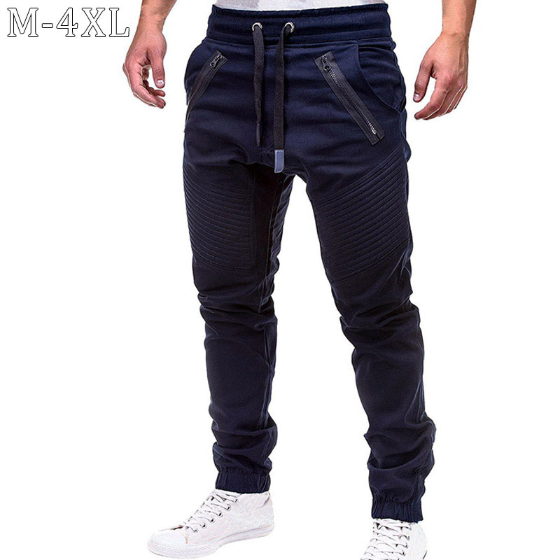 New Sweat Pants Men Mid Waist Drawstring Streetwear Trousers Men Casual Solid Mens Joggers Pants Plus Size 4XL Pantalones Hombre