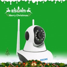Escam G02 1MP HD 720P WIFI IP Camera Infrared Indoor Dome Pan/Tilt IR-Cut Two Way Talk Dual Antenna Surveillance Onvif Camera