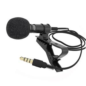 Image 5 - Portable Professional Grade Lavalier Mic Mikrofon 3,5mm Jack Omnidirektionale Clip on Mikrofon für Aufnahme von Live Video