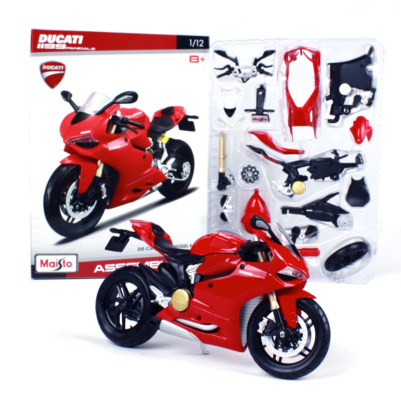 Maisto 1:12 Ducati 1199 PANIGALE Montering DIY MOTORCYCLE BIKE Model Kit FRI FRAKT S 1000 RR R 1200 GS 39193
