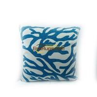 Blue coral cotton and linen digital printing marine animals do old style cushions coffee shop 61gc154yg2