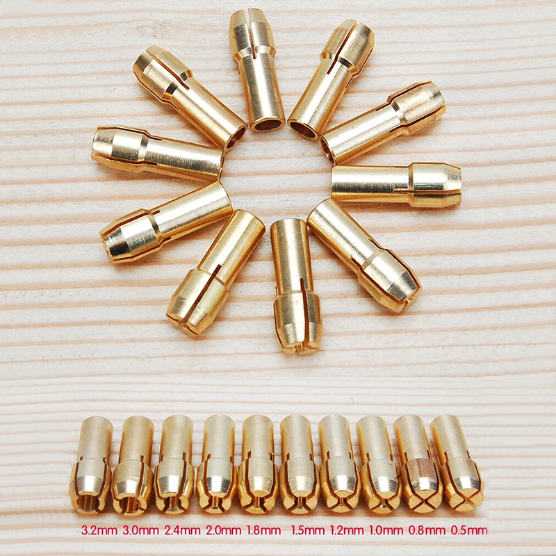 10pcs dremel mini drill chucks drill chuck adapter micro collet chuck