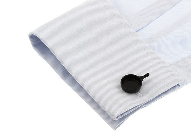 Igame Cufflinks Novelty Black Design Brass Material