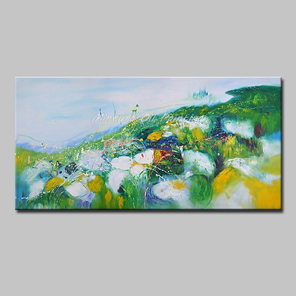 Mintura Art Большой размер Ручная роспись абстрактный пейзаж картина маслом на холсте современный настенный Декор картина для гостиной без рамы - Цвет: MT161276