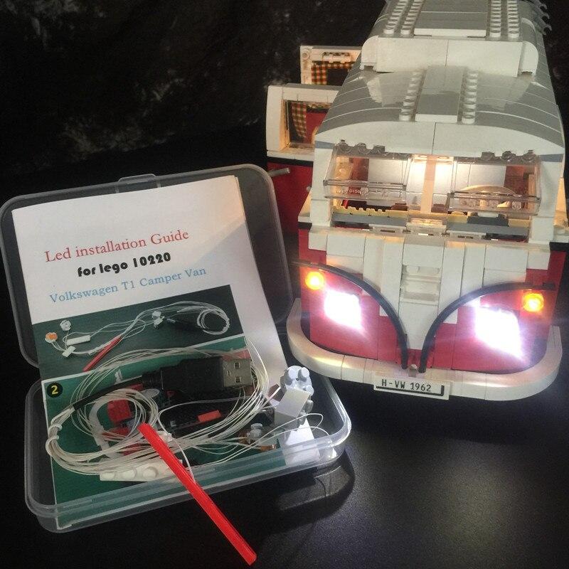 Светодиодный светильник KYGLARIN для Creator 10220 / 21001 T1 Camper Van Building Blocks car