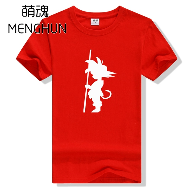 94b216c21 Dragon ball concept t shirt Young Goku Son Goku outline printing full  cotton short sleeve t shirts ac618