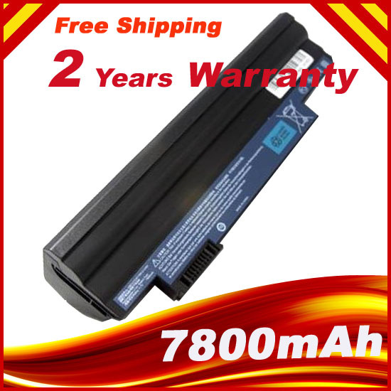 7800MAH Laptop Battery For Acer ASPIRE ONE D255 D260 AL10B31 AL10A31 AL10G31