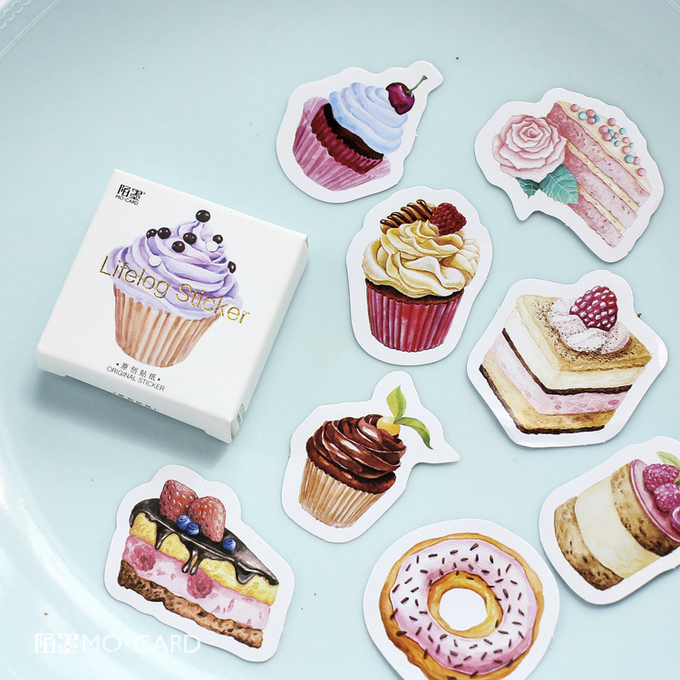 45 pcs/pack My Favorite Sweet Dessert Label Stickers Decorative Stationery Stickers Scrapbooking DIY Diary Album Stick Label spring and fall leaves shape pvc environmental stickers decorative diy scrapbooking keyboard personal diary stationery stickers