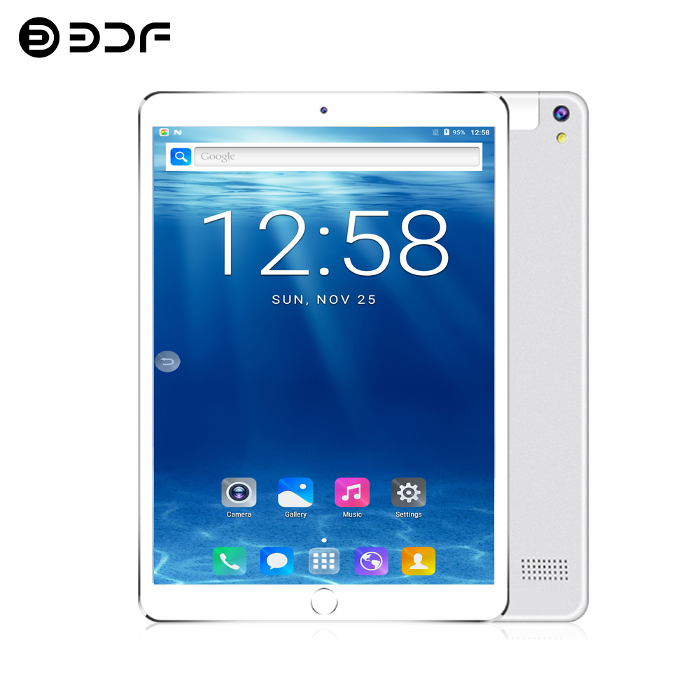 BDF Android Tablet 10 Inch Octa Core 4G RAM 64G ROM Dual SIM 3G Phone Tablet Pc 1920*1200 IPS LCD Bluetooth WIFI Tablets 7 8 9
