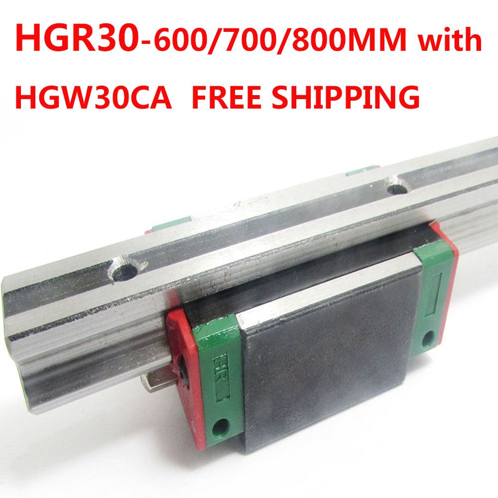 1PC free shipping HGR30 Linear Guide Width 30MM Length 600MM/700MM/800MM with 1PC HGW30CA Slider for cnc xyz axis large format printer spare parts wit color mutoh lecai locor xenons block slider qeh20ca linear guide slider 1pc