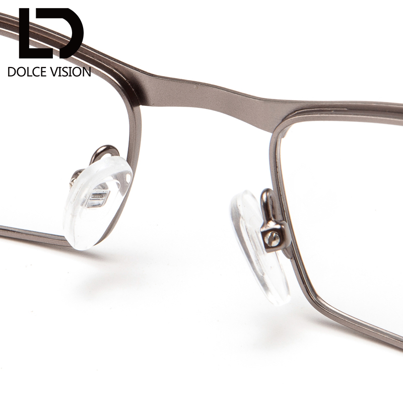 8b94021f04 DOLCE VISION Vintage Half Frame Degree Optical Glasses Men Clear Lens  Prescription Rectangle 1.67 Progressive Graduated Glasses -in Prescription  Glasses ...