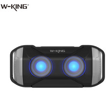 2018 W-king New Arrival Outdoor Wateproof Bluetooth Wireless Bicycle Speaker S21 with LED Light for Mobile Phones