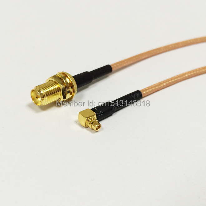 New RP SMA  Female Jack Connector to MMCX  Male Plug  Right Angle Connector RG316 Coaxial Cable Pigtail 15CM 6 Adapter sma female to rp sma male right angle adapter connector