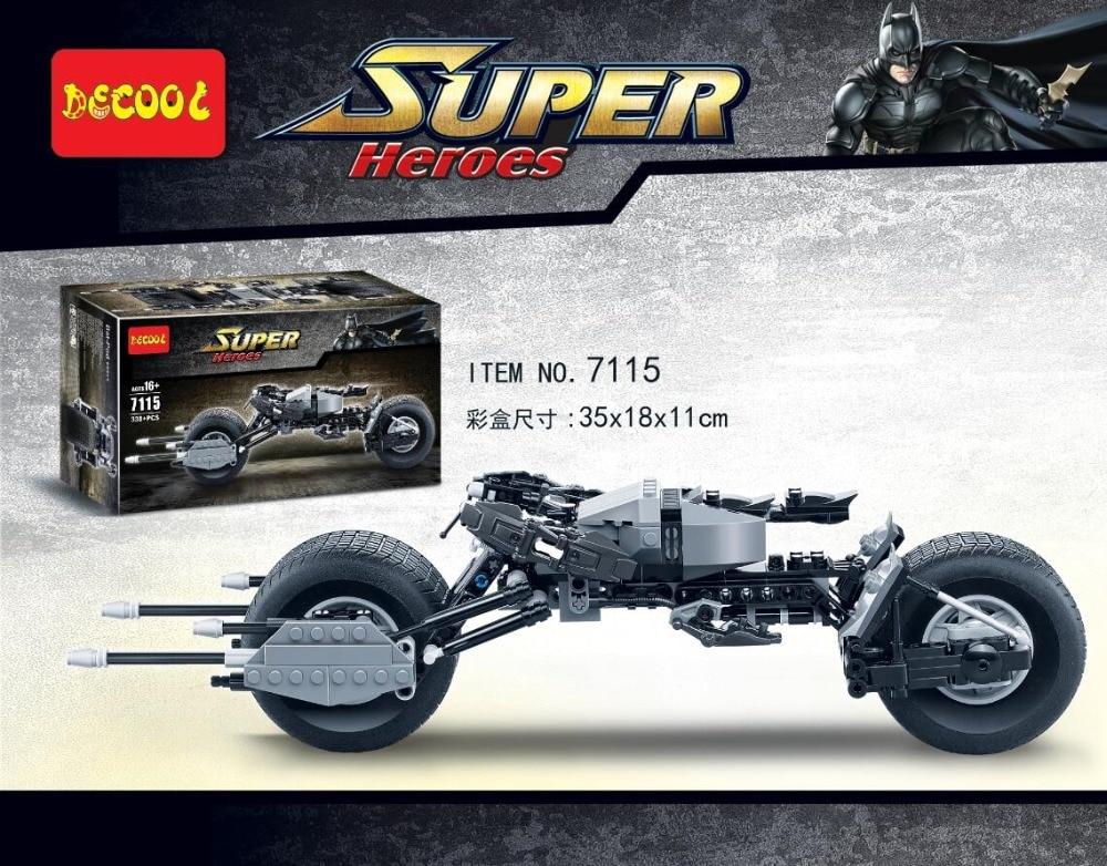 Decool 7115 super heroes Batman Batmobile car motor The BAT-POD Model building blocks bricks toys children gift Classic Toys