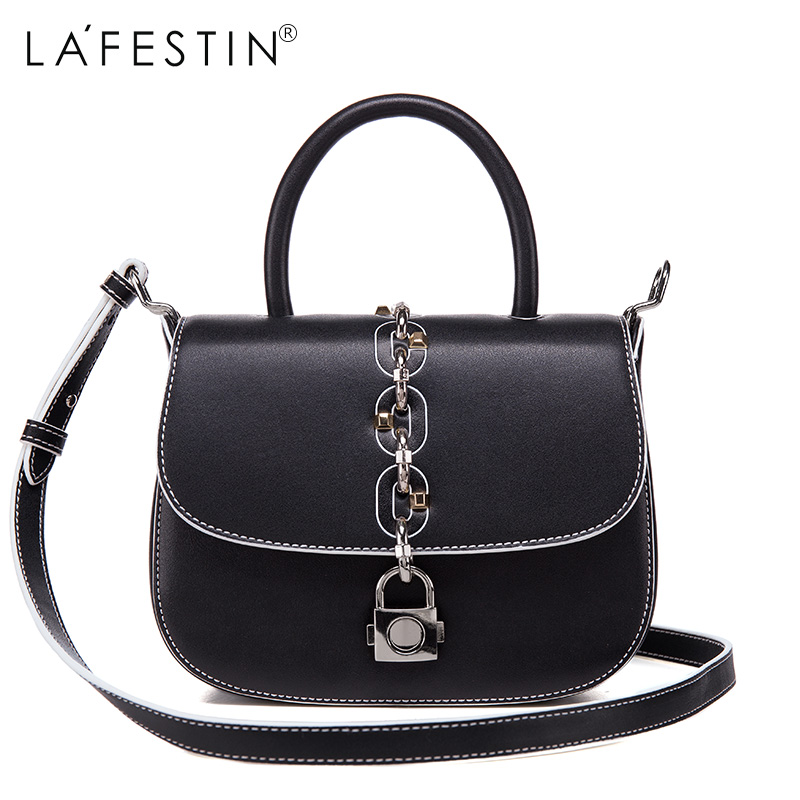 LAFESTIN Fashion Saddle Handbags Women Designer Real Leather bags Shoulder Luxury Lock Totes Multifunction brands Bag bolsa lafestin luxury shoulder women handbag genuine leather bag 2017 fashion designer totes bags brands women bag bolsa female