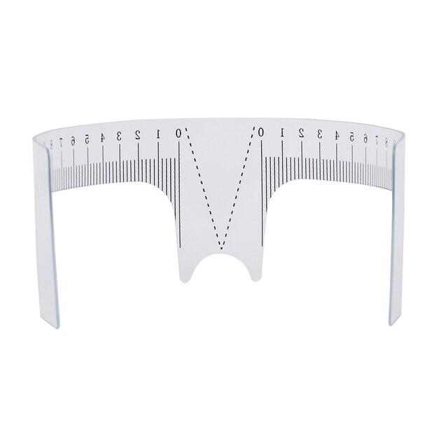 1PC Reusable Semi Permanent Eyebrow Ruler Eye Brow Measure Tool Eyebrow Guide Ruler Microblading Calliper Stencil Makeup 1