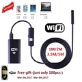 1PC Zjuxin WiFi Endoscope 8mm Lens 1M/2M/3.5M/5M endoscope iphone NEW 720 endoscope camera android with 6 led mini wifi camera