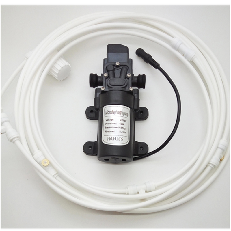 L093 HAIGINT Cool Patio Misting System Water Pump with Misting Pipeline