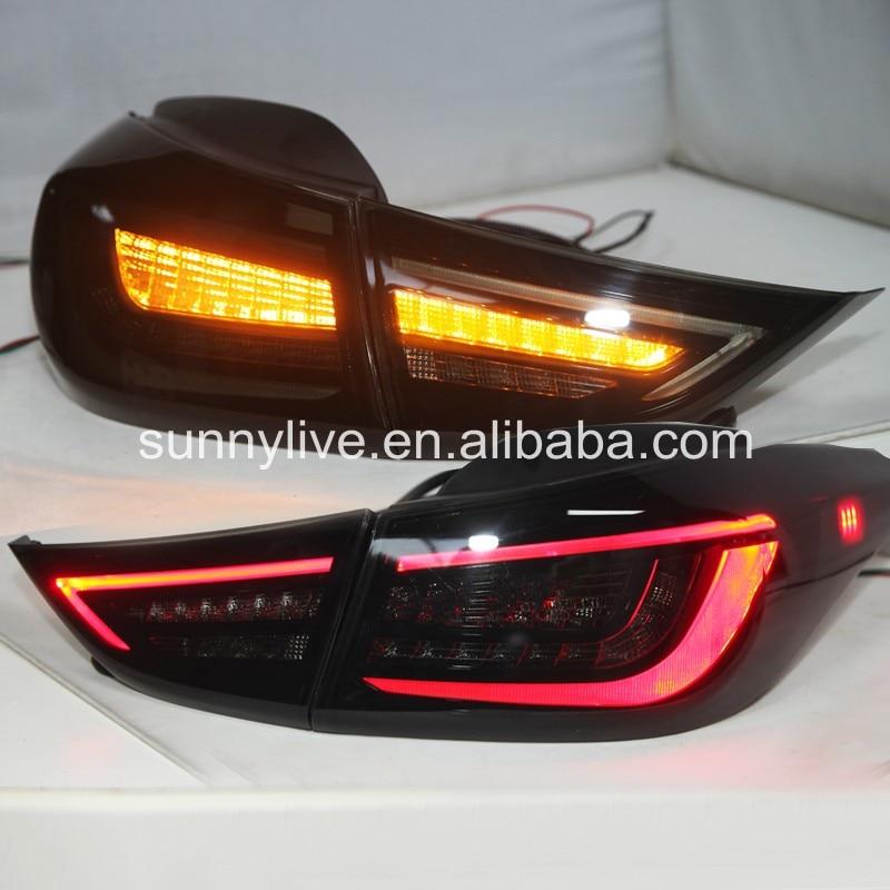Elantra LED Tail Lamp For Hyundai All Smoke Black Color 2012-13 year Black Yz