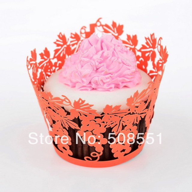 Decorative Cupcake Boxes Captivating Orange Grape Paper Muffin Cupslaser Cut Cupcake Wrappers 2018