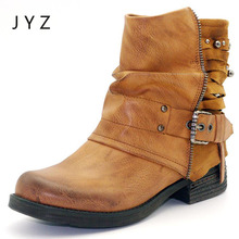 Fashion New Womens Ankle Boots Autumn Spring Flats Shoes Hightops Lady Size 40 41 aa1017