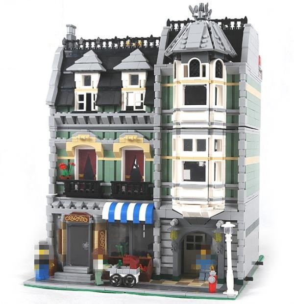 2462Pcs New 15008 LEPIN City Street Green Grocer Model Building Blocks kids DIY Bricks Toys gift Compatible 10185 for children lepin 15008 new city street green grocer model building blocks bricks toy for child boy gift compatitive funny kit 10185 2462pcs