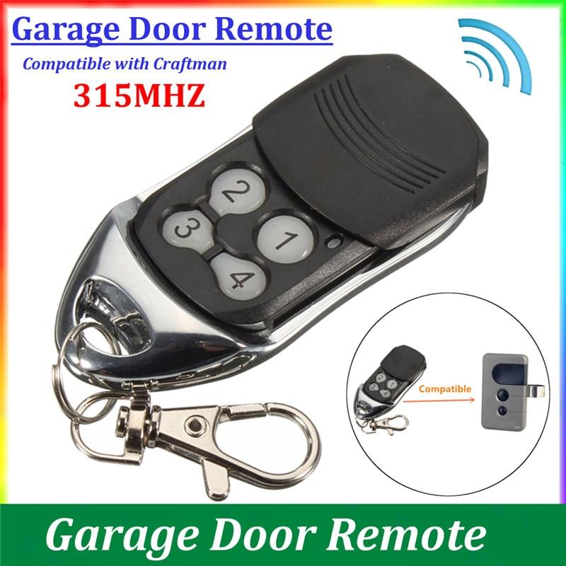 Universal 4 Button Gate Garage Door Opener Remote Control 315MHZ Rolling Code Car Alarm Wireless Remote