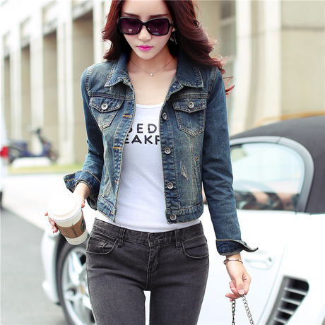 2016 Autumn New Slim Fit Thin Denim Jacket Female Short Design Long Sleeved Women Jacket Worn Denim Coat Retro Scratch Outwear In Basic Jackets From Women S Clothing Accessories 9,966 results for slim fit jacket women. 2016 autumn new slim fit thin denim jacket female short design long sleeved women jacket worn denim coat retro scratch outwear in basic jackets from