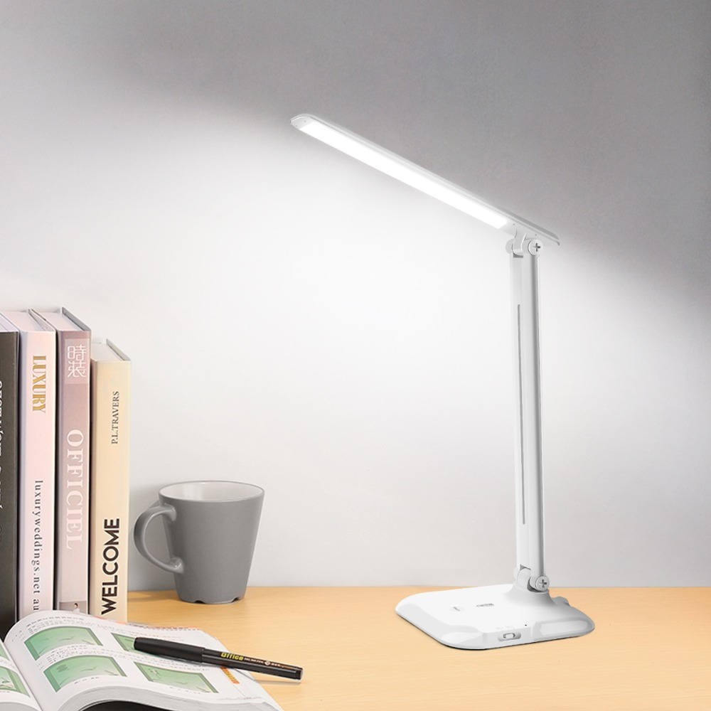 Rechargeable USB LED Book light 7W Dimmable Table lamp Color Temperature Adjustable Touch Switch Sensor Study Reading Desk lamp fashion adjustable usb rechargeable led desk table lamp light with clip touch switch dimmable student lamp for reading