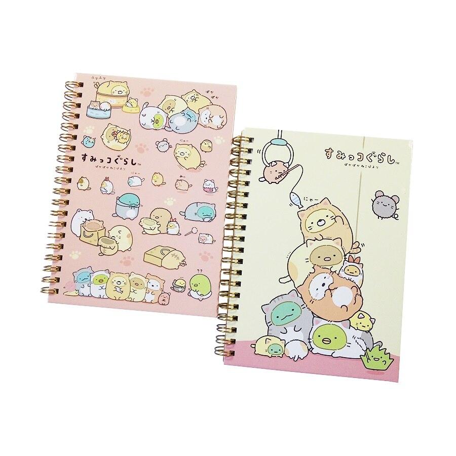 1 Teile/los Schöne Spiral Coil Notebook Studenten Rilakkuma & Sumikkogurashi Tagebuch Journal Notizblock Buch Memo