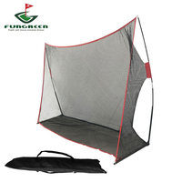 FUNGREEN Golf Net 10x7ft Golf Hitting Net Practice Driving Indoor & Outdoor Golf Swing Net Golfing at Home Swing Training Aids