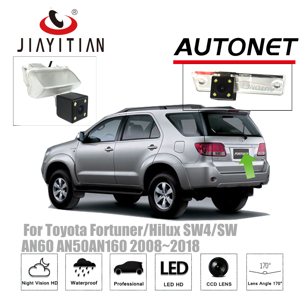 JiaYiTian rear camera For Toyota Fortuner Hilux SW4 AN60 AN50AN160 2008 2018 CCD Night Vision Backup