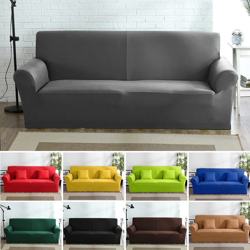 High Grade Cover For Sofa Furniture Armchair Modern Living Room Sofa Cover Stretch Elastic Couch Slipcover Cotton 1/2/3/4 Seater
