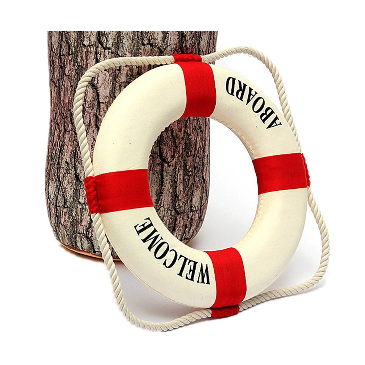 Welcome aboard boat ships life ring clock - Nautical Home Decor New Decorative Welcome Aboard Nautical Lifebuoy Ring