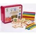 1 UNIDADES Digital Inteligencia Grandes Juguetes Montessori Matemáticas Cálculo Material De Madera Color Iluminación Educación Temprana Juguete WJ303