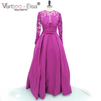 VAROO ELSA New Arrivals Romatic Evening Dresses Noble Party Gown 2017 Sexy Strapless Purple Long Evening