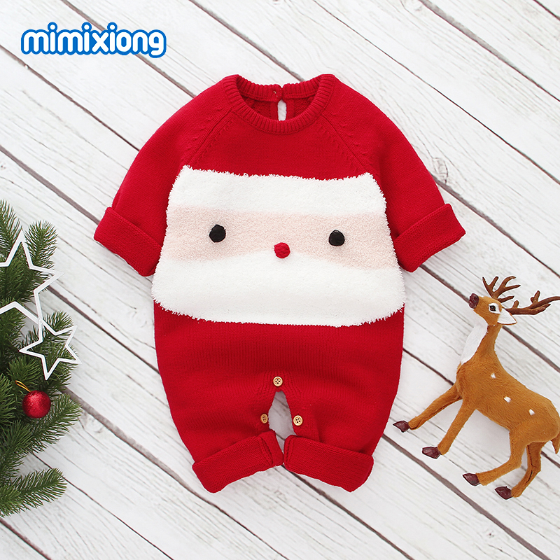 Baby Girls   Rompers   Clothes Autumn Long Sleeve New Born Boys Jumpsuits One Piece Outfits 0-18M Toddler Children Knit Overall Wear