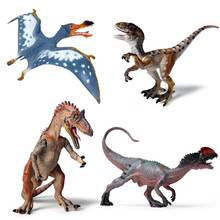 Oenux Jurassic Carnivorous Dinosaur Cryolophosaurus Velociraptor Model Figurine Brinquedo Dinosaur Action Figure Toy For Kid(China)