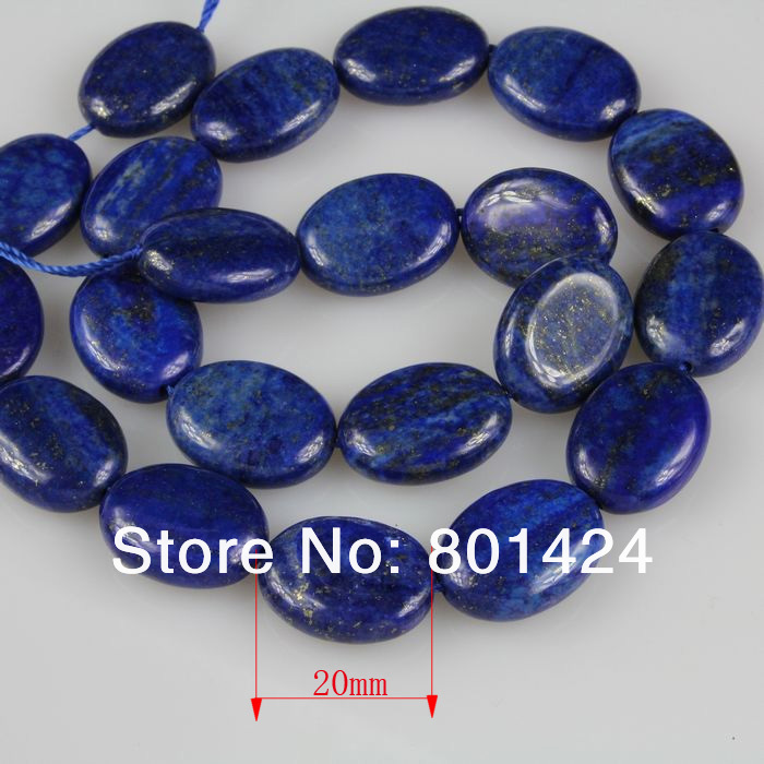 "74-884 free Shipping accessories for jewelry diy Natural 20mm oval Lapis Lazuli Jasper Oval loose semi precious Beads 15""A"
