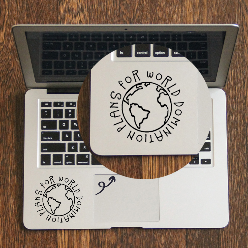 Plans for world domination Laptop Trackpad Sticker for font b Apple b font font b Macbook