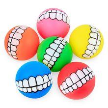 Pet dog training Fun chewing ball with Teeth