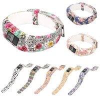 Цветы сменный Браслет для часов браслет с металлической пряжкой для Garmin Vivofit 3 браслет